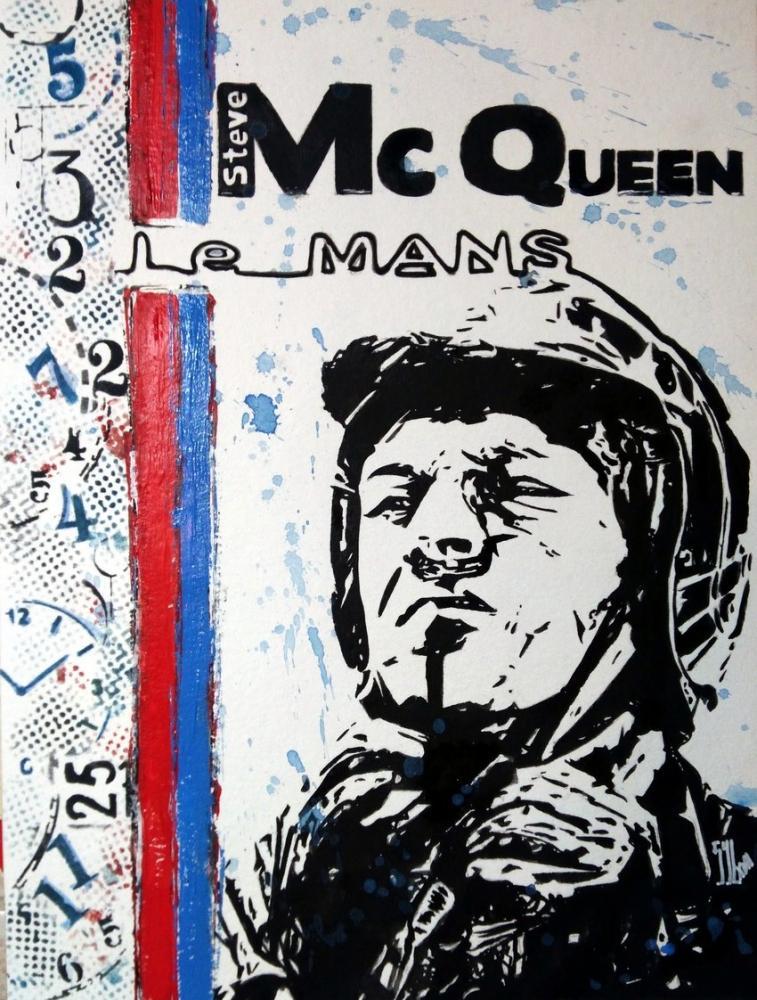 Steve McQueen by aquarelle-autrement